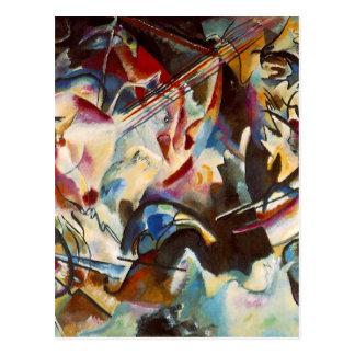 Pintura abstracta de la composición VI de Tarjeta Postal