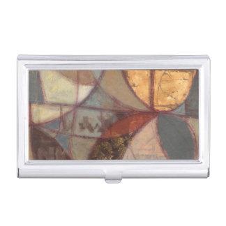 Pintura abstracta de la hoja floral del normando caja de tarjetas de negocios