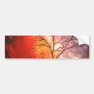 Pintura abstracta de la lona del árbol pegatina para auto