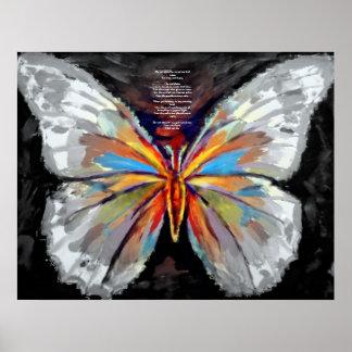 Pintura abstracta de la mariposa - impresiones del