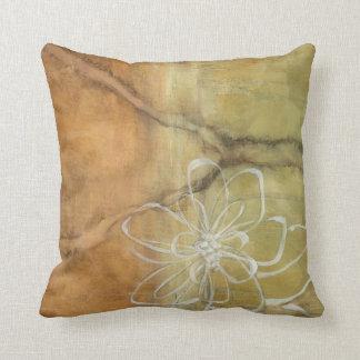 Pintura abstracta de la silueta en fondo del almohada