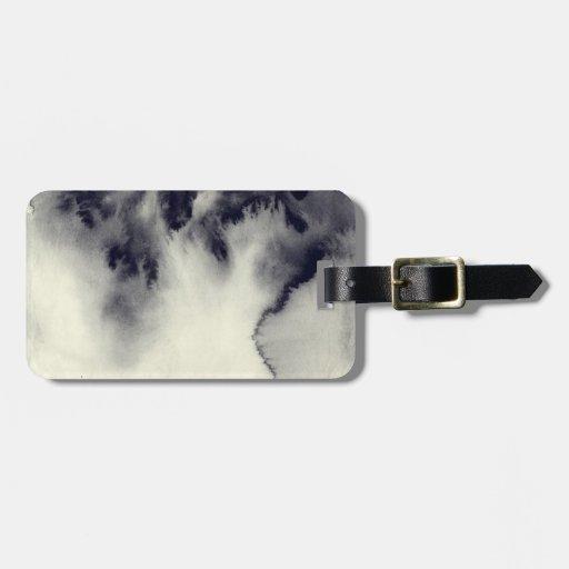 Pintura abstracta de la tinta en textura del papel etiqueta para equipaje