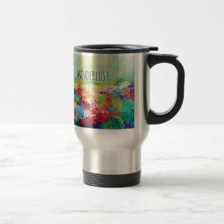 Pintura abstracta de la tipografía del arte de la  tazas de café