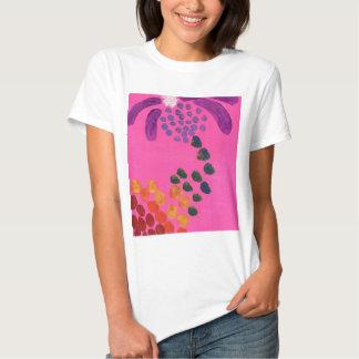 Pintura abstracta de las rosas fuertes playeras