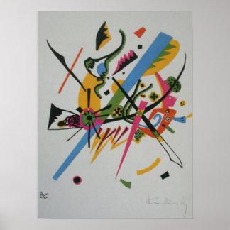 Pintura abstracta de los mundos I de Kandinsky Póster