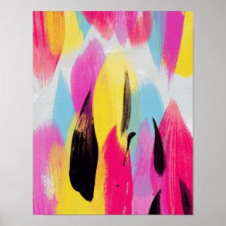 Pintura abstracta de Matilda // Póster
