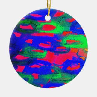 Pintura abstracta de neón intrépida de la acuarela adornos de navidad