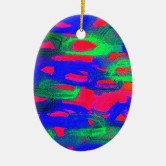 Pintura abstracta de neón intrépida de la acuarela ornamentos de reyes