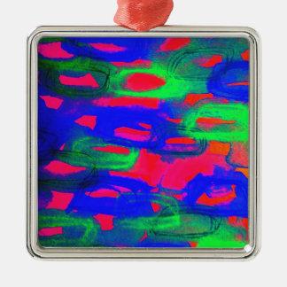 Pintura abstracta de neón intrépida de la acuarela ornamento para arbol de navidad
