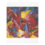 Pintura abstracta de Umberto Boccioni Tarjetas Informativas