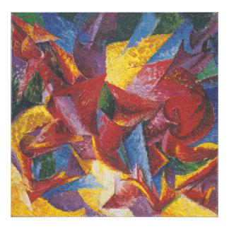 Pintura abstracta de Umberto Boccioni Fotografias