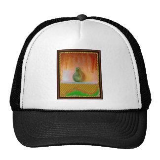 Pintura abstracta de una pera colorida gorra