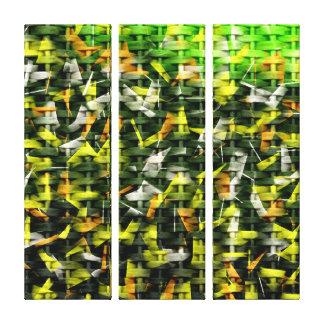 Pintura abstracta del aceite y del acrílico en el  impresión en lienzo