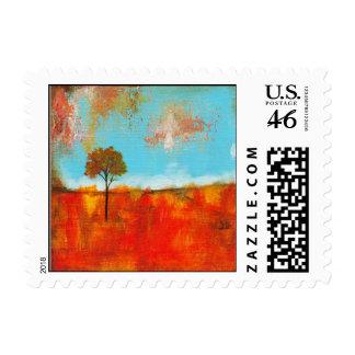 Pintura abstracta del arte del árbol del paisaje d