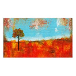 Pintura abstracta del arte del árbol del paisaje d plantillas de tarjeta de negocio