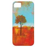 Pintura abstracta del arte del árbol del paisaje iPhone 5 coberturas