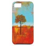 Pintura abstracta del arte del árbol del paisaje iPhone 5 carcasas