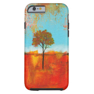 Pintura abstracta del arte del árbol del paisaje funda para iPhone 6 tough
