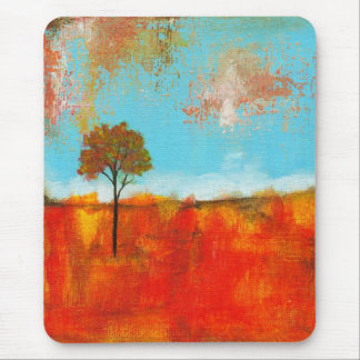 Pintura abstracta del arte del árbol del paisaje tapete de ratones