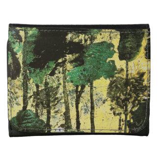 Pintura abstracta del bosque
