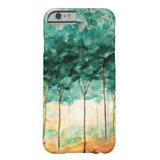 Pintura abstracta del bosque de los árboles del