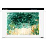 Pintura abstracta del bosque de los árboles del ar calcomanía para portátil