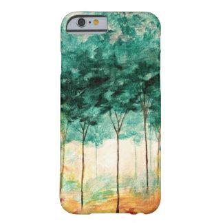 Pintura abstracta del bosque de los árboles del funda de iPhone 6 slim