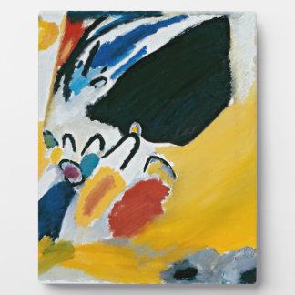 Pintura abstracta del concierto de la impresión placas de madera
