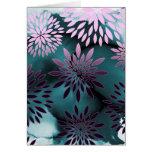 Pintura abstracta del estampado de flores y de la  tarjetón