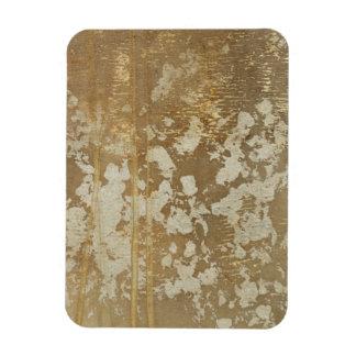 Pintura abstracta del oro con los puntos de plata imanes