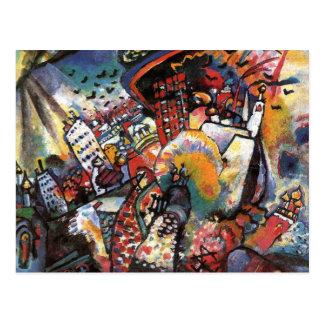 Pintura abstracta del paisaje urbano de Kandinsky Tarjetas Postales