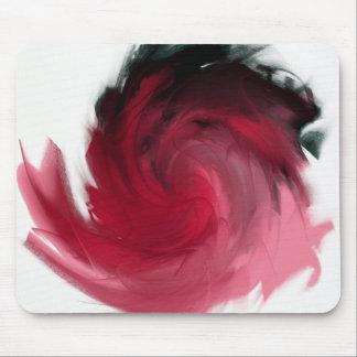 Pintura abstracta del rosa y del negro tapetes de raton