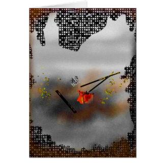 """Pintura abstracta del """"tornado"""" tarjeta de felicitación"""
