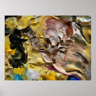 Pintura abstracta (detalle) #821_B Posters