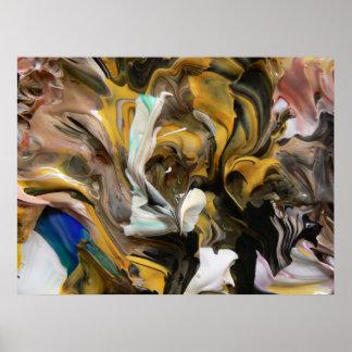 Pintura abstracta (detalle) #822_B Poster