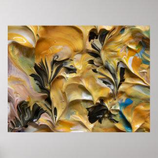 Pintura abstracta (detalle) #823 impresiones