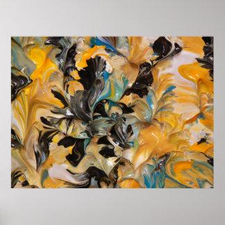 Pintura abstracta (detalle) #824_B Poster