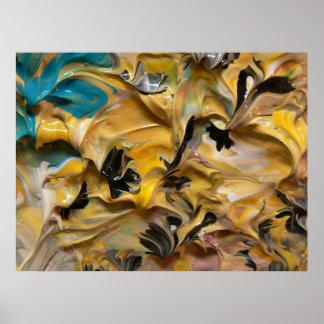 Pintura abstracta (detalle) #824 impresiones
