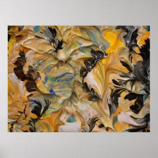 Pintura abstracta (detalle) #825 posters
