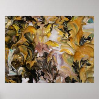 Pintura abstracta (detalle) #829 impresiones
