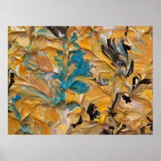 Pintura abstracta (detalle) #830 poster