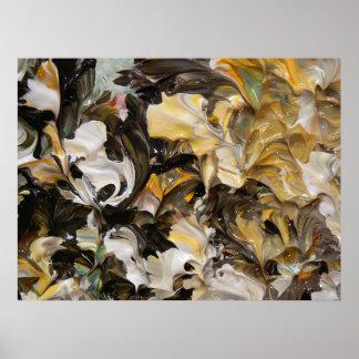 Pintura abstracta (detalle) #839 poster