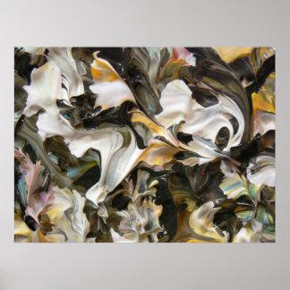 Pintura abstracta (detalle) #842_B Poster