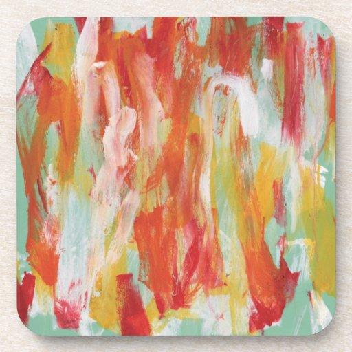 Pintura abstracta ducha de 64 Sun Posavaso