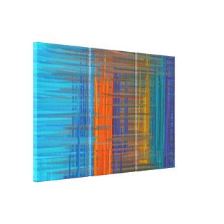 Pintura abstracta el | 11 coloridos retros impresiones en lona estiradas