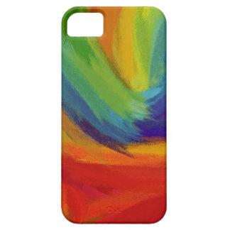 Pintura abstracta el 42 coloridos retros iPhone 5 protector