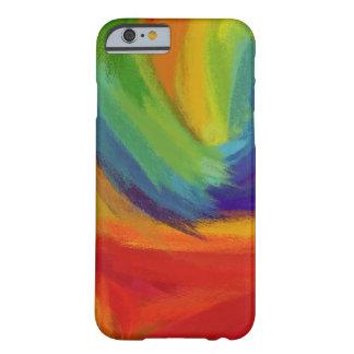 Pintura abstracta el   42 coloridos retros funda de iPhone 6 barely there