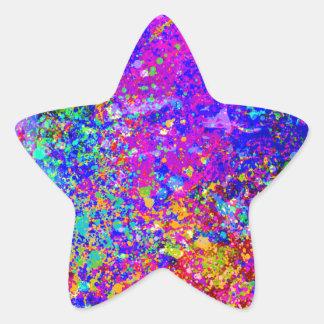 Pintura abstracta en lona pegatina en forma de estrella