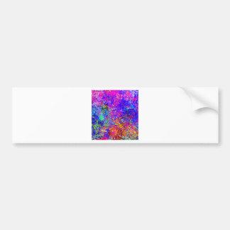 Pintura abstracta en lona pegatina para auto