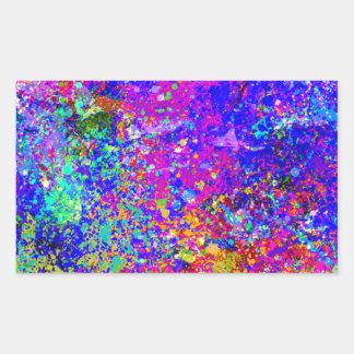 Pintura abstracta en lona pegatina rectangular